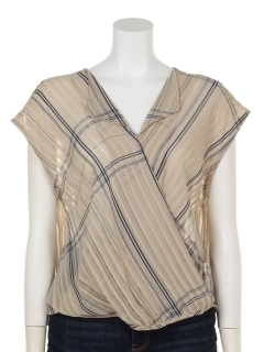 開襟カシュクールフレンチ袖
