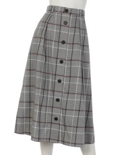 チェックボタン付スカート