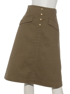 フラップ付きAラインスカート