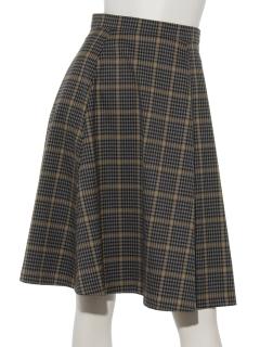 【Hamac】ミニチェックフレアスカート