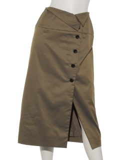 【Hamac】ウエスト折返セミAラインスカート