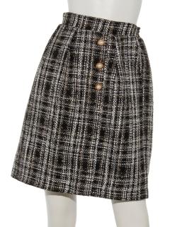 【Hamac】チェックツイードタイトスカート