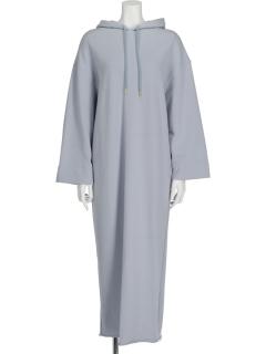 EMフーデットスウェットドレス