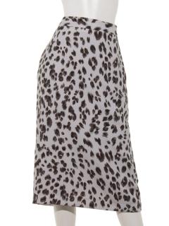 ウーリーレオパードタイトスカート