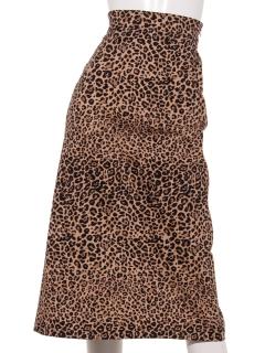 【Hamac】レオパードAラインスカート