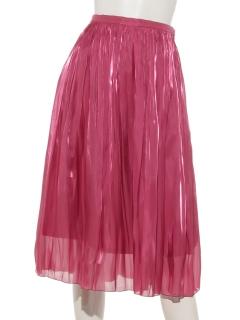 エアメタルサテンギャザースカート