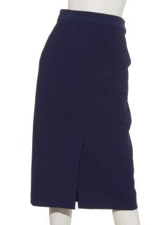 貼りポケスリットタイトスカート