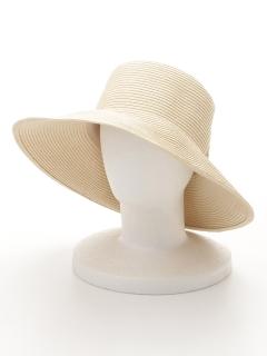 リボンキャペリンつば広帽
