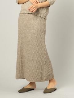 MIXカラーニットスカート