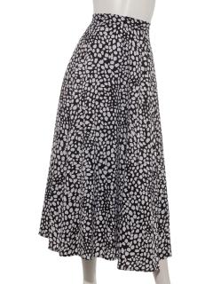 単色レオパードスカート