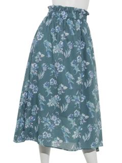 【Hamac】花柄プリントフレアースカート