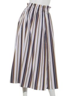 【Hamac】マルチストライプフレアスカート
