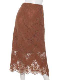 ラッセルレーススリットタイトスカート