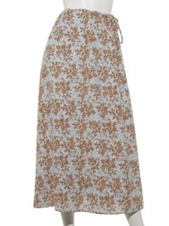 サイドリボンセミフレアスカート