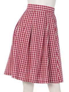 ギンガムタックギャザースカート