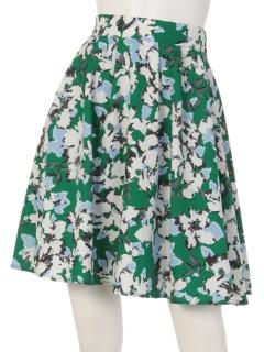 花柄ミディ丈スカート