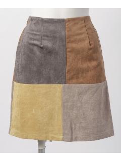 パッチワークタイトスカート