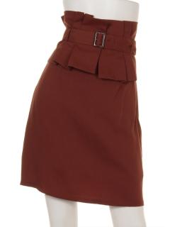 ペプラムベルト付スカート