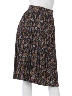 花ベルト付プリーツスカート