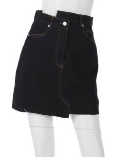 デニム変形ミニスカート