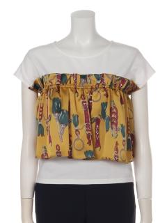 a-スカーフドッキングTシャツ
