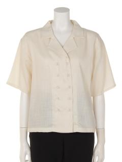 a-無地オープンカラー半袖シャツ