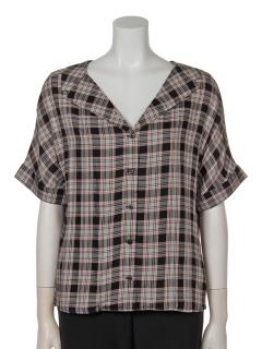 a-チェックオープンカラーシャツ