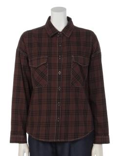 綿チェックBIGシャツ