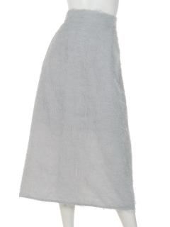 a-シャギーシフォンフレアミモレスカート