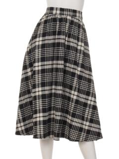 C-チェックフレアースカート