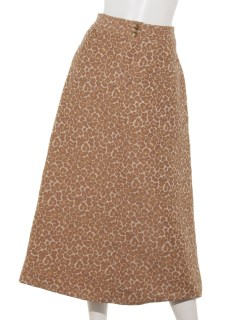 a-レオパードAラインスカート