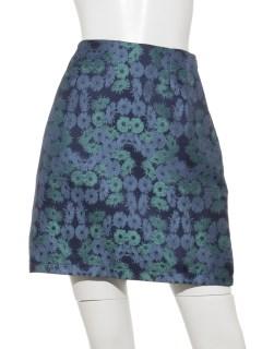 花柄ジャガードタイトスカート