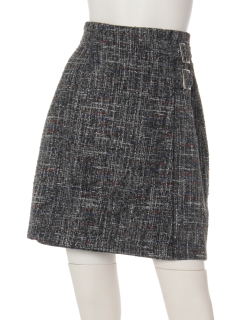 チェックラップ風ミディスカート