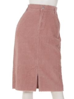 フリンジコーデュロイタイトスカート