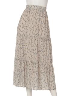 a-花柄ティアードスカート