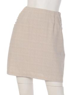 春チェックフリル台形スカート