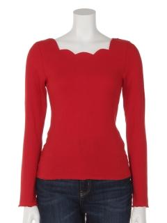 スカラップ衿Tシャツ