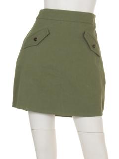 Wポケ台形スカート