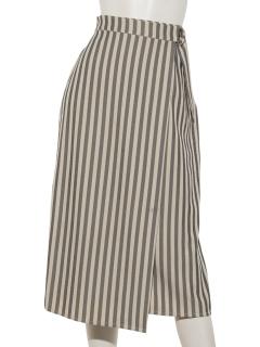 ストライプラップスカート