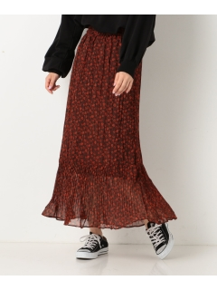 ペイズリーワッシャープリーツスカート