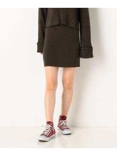 リブ編みタイトスカート