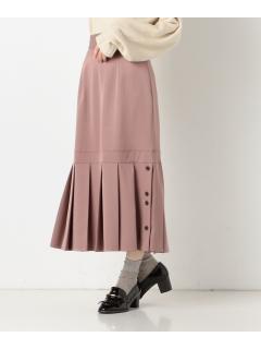 裾プリーツ切替スカート