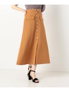 ドット釦Aラインスカート