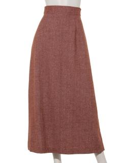 ヘリンボーンセミフレアスカート