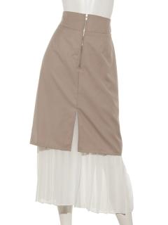 プリーツレイヤードロングスカート