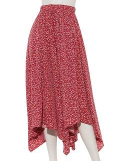 小花柄イレヘムスカート
