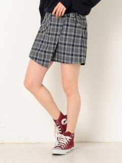 ワークポケットチェックラップスカート