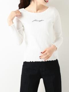 ロゴ刺繍テレコTシャツ