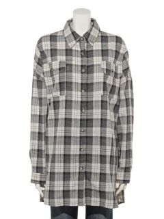 T/CチェックチュニックBIGシャツ