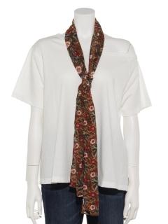 スカーフ付きワンショルTシャツ